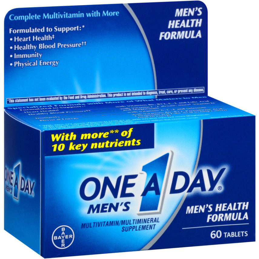 One-A-Day Men's Health Formula Tablets 60 Tablets 1 a day for Men Heart Health