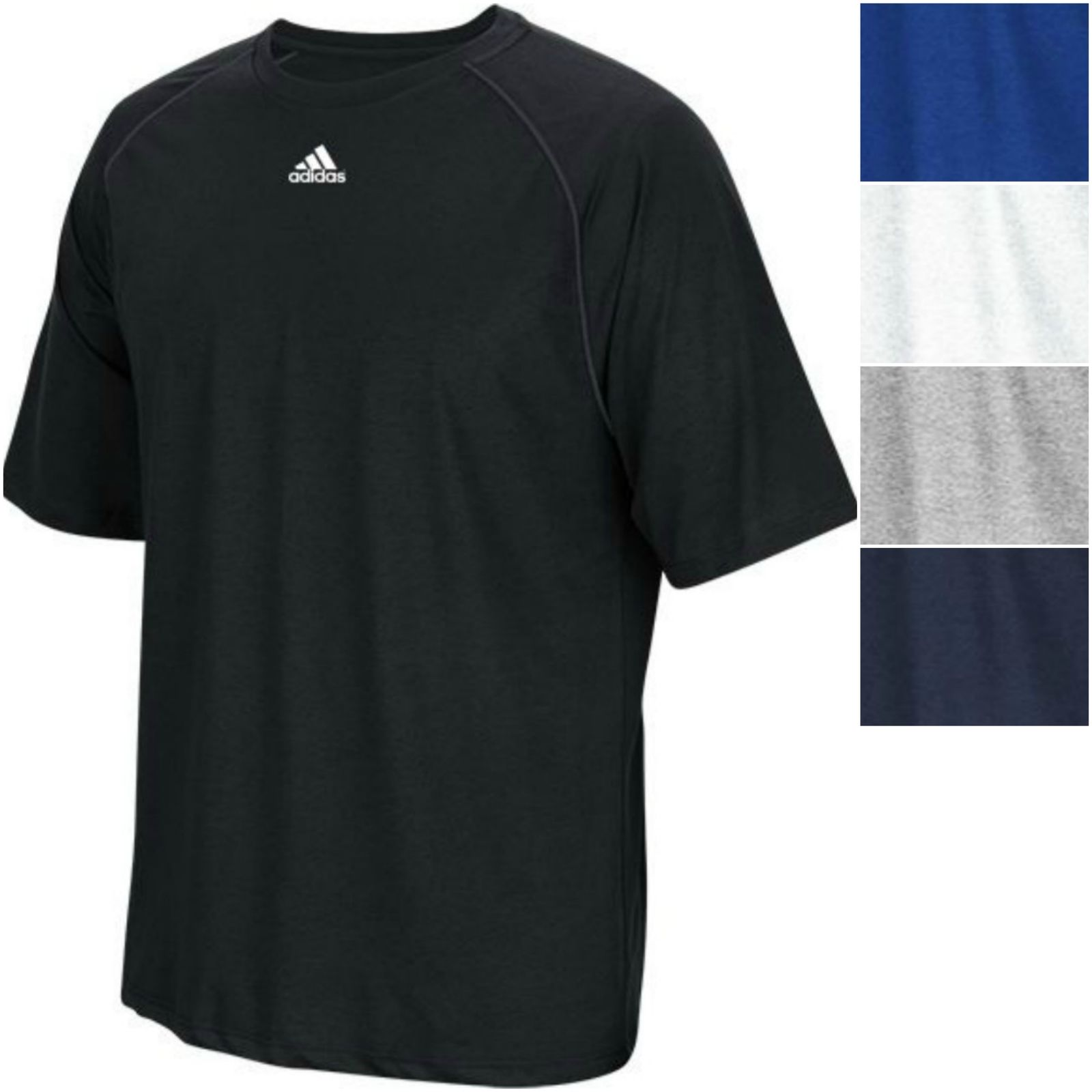 Adidas men 39 s climalite short sleeve tee athletic relaxed for Athletic fit t shirts for men