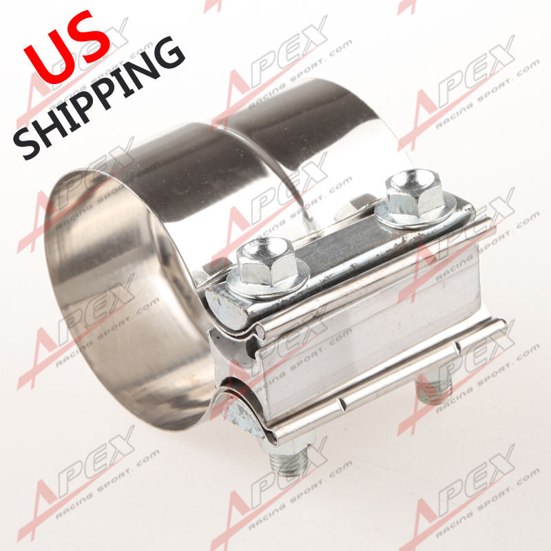 2.75″ Stainless Steel Torctite Exhaust Band Clamp Step Clamps Lap Join US