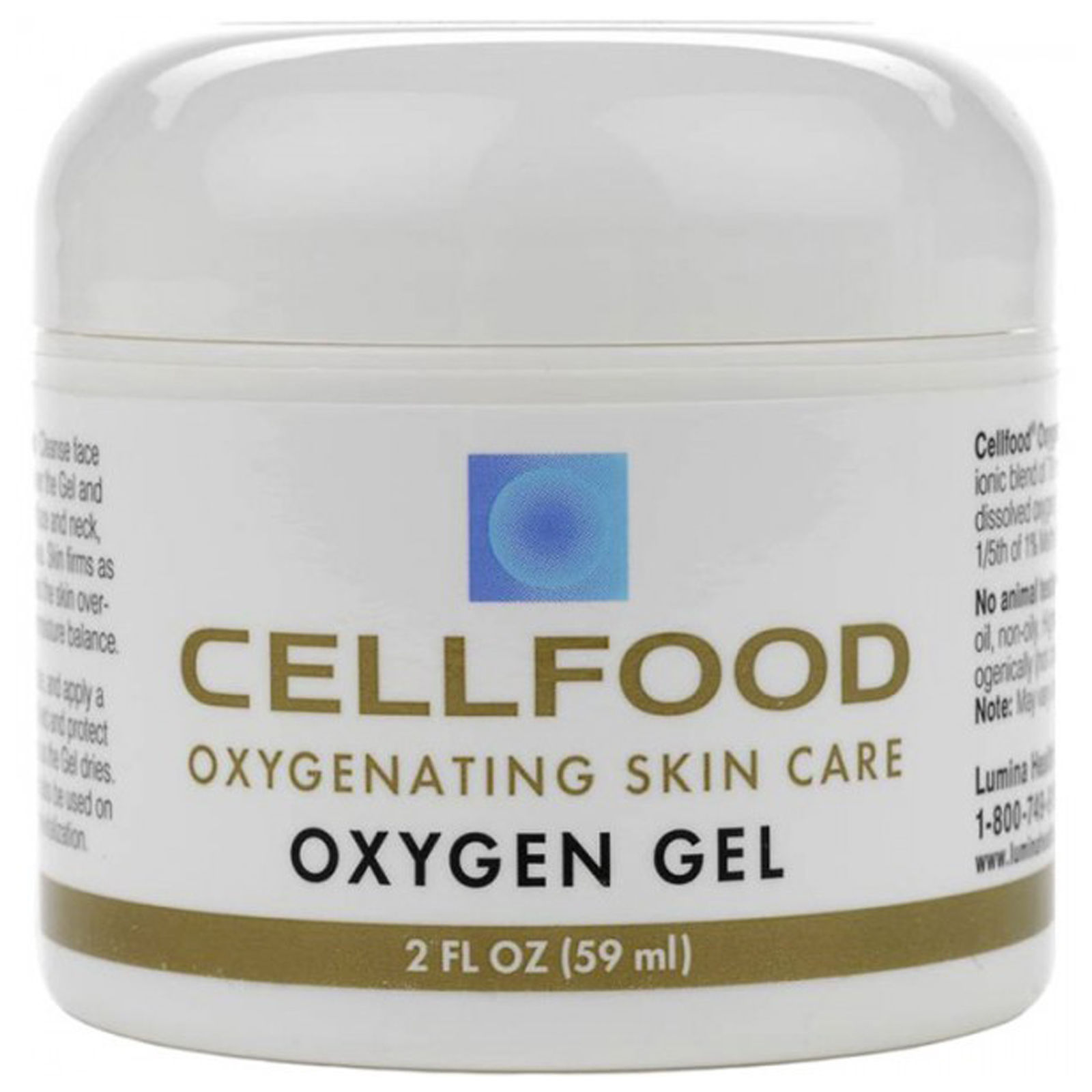 Cellfood Oxygen Gel 2 fl.oz Jar of Oxygenating Skin Care Gel by Lumina Health