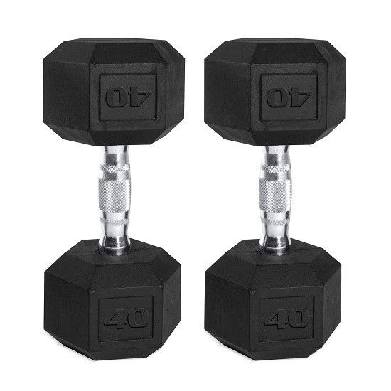Best Home Dumbbell Set: Hex Dumbbell Set Weight Lifting Pair Rubber Coated Finess