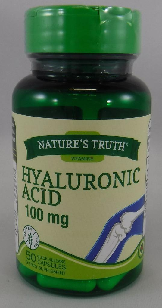 Nature's Truth Hyaluronic Acid 100mg  Quick Release for Joint Health