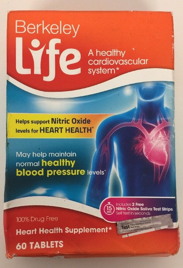 (New) Berkeley Life Heart Health Dietary Supplement – 60 ea