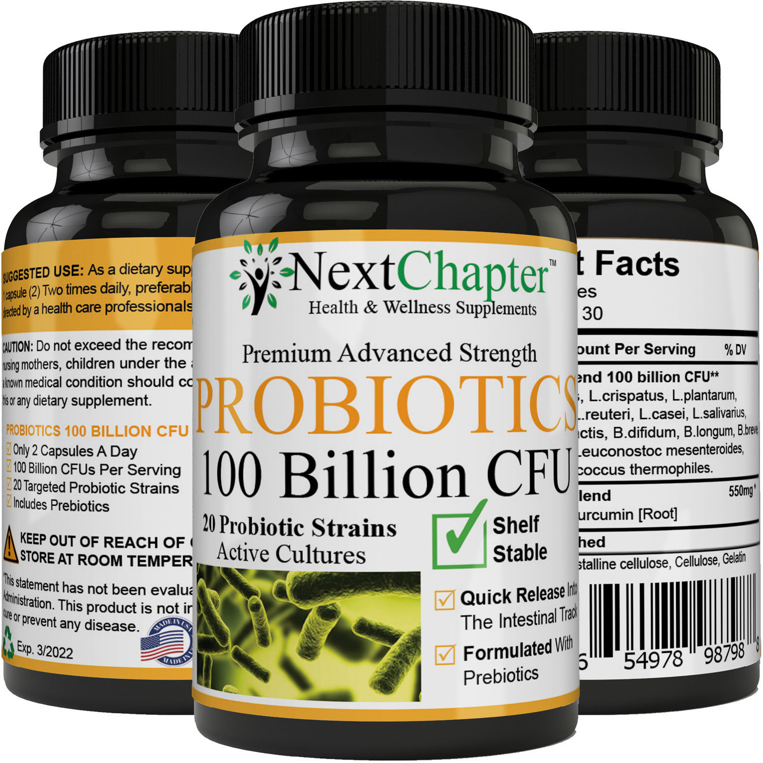 probiotics 100 billion cfus