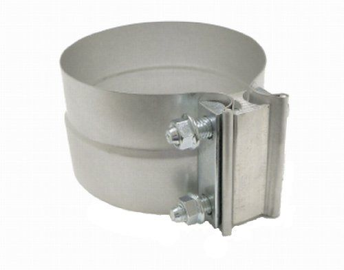 SmartParts 100300 3″ Lap Joint Preformed Aluminized Steel Exhaust Band Clamp
