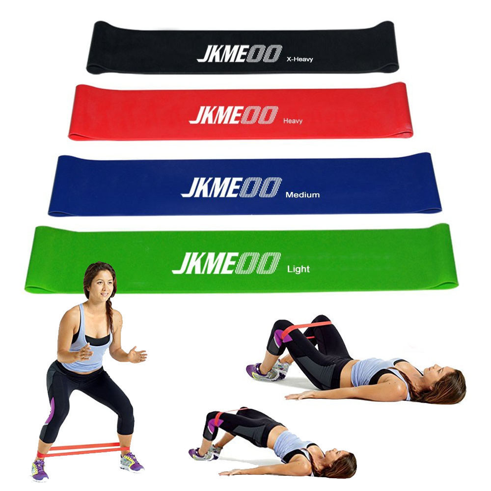 Workout Bands Booty: 4PC Workout Resistance Bands Loop Set CrossFit Fitness