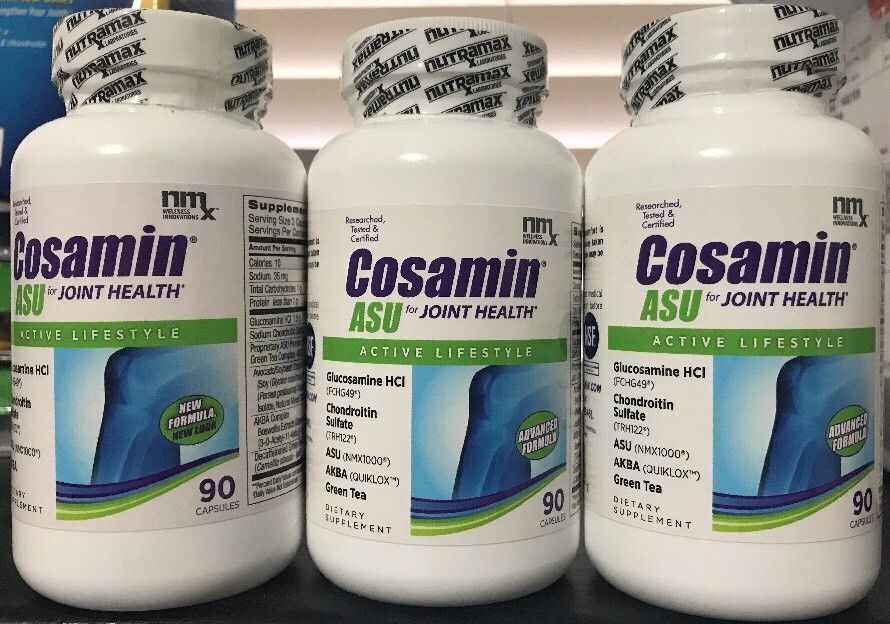 3X NUTRAMAX COSAMIN® ASU 270 CAPSULES JOINT HEALTH ACTIVE LIFESTYLE. EXP 2019+