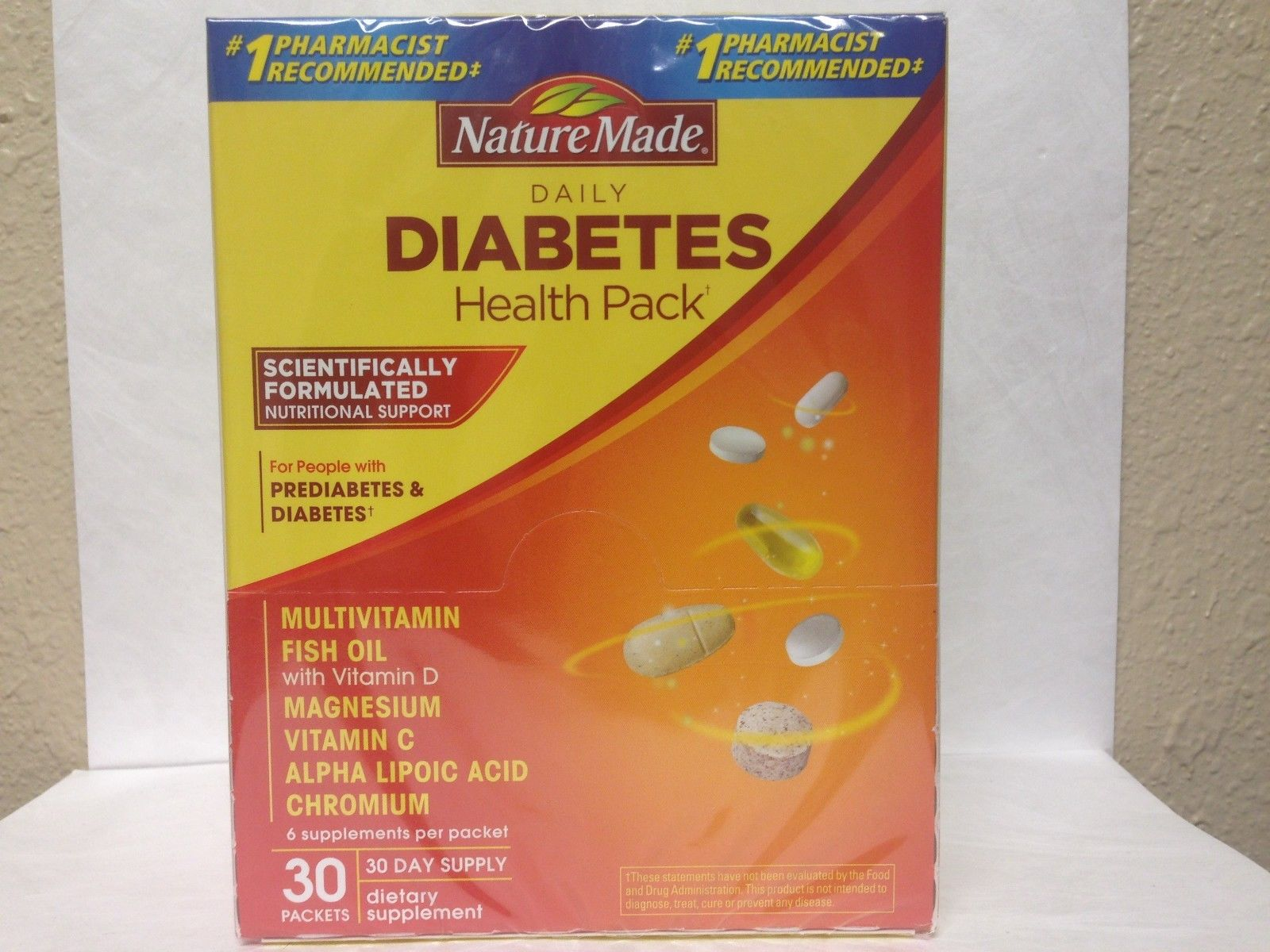 30 Day Supply – Nature Made Daily Diabetic Health Pack – EXP. 04/2019