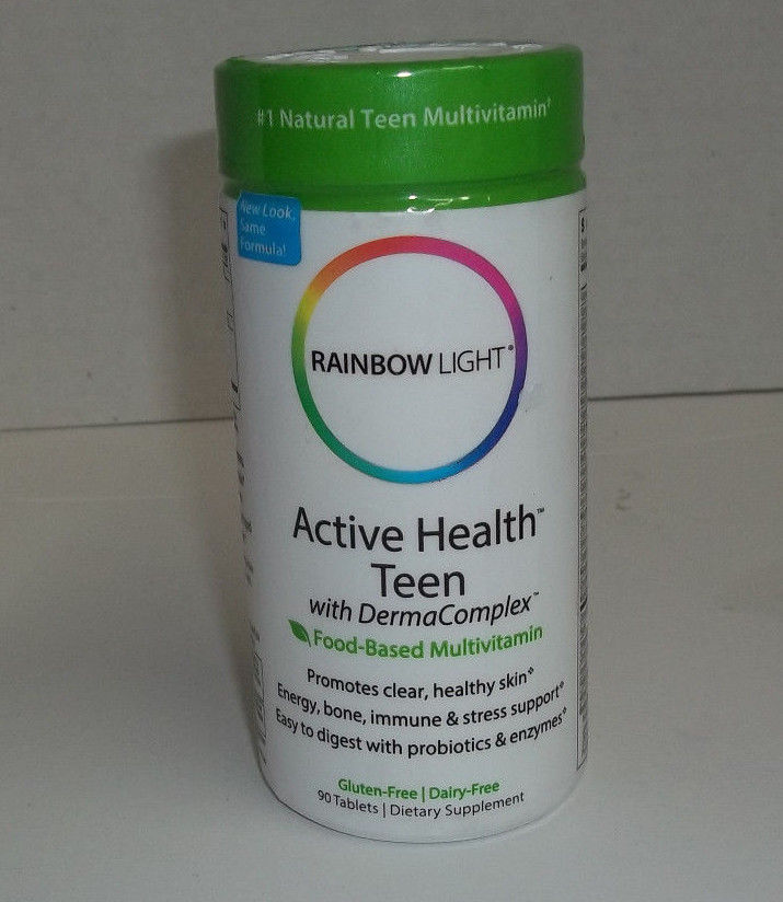 Rainbow Light Active Health Teen Multivitamin 90 Tablets Exp 1/19