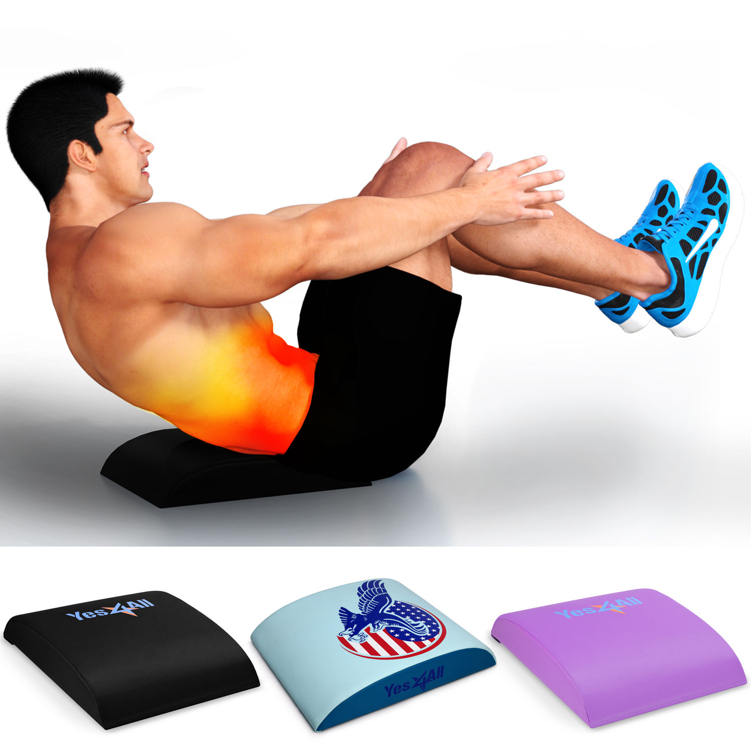Yes4All Ab Abdominal Core Exercise Hybrid Mat Back Support